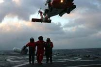 Coast guard rescue nine crewmen from sinking ship