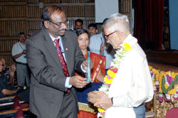 DR&DE (E) former director Joshi  felicitated
