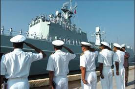 Indian naval ship arrives at Indonesian city