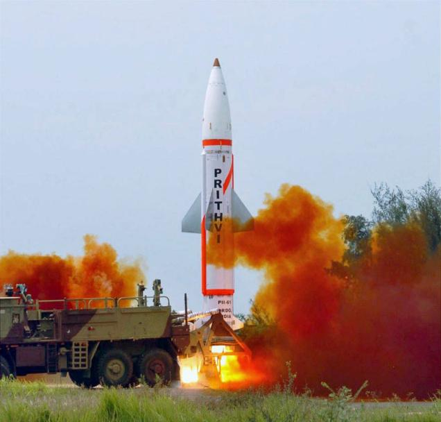 India tests nuclear-capable Prithvi-II missile