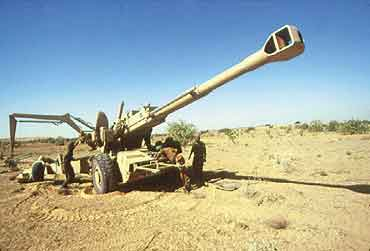 Field trials of upgraded Bofors gun in January 2013