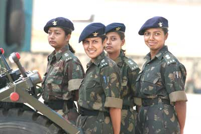 Women officers in the Indian armed forces