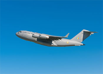 Boeing Delivers Indian Air Force's 1st C-17 to Flight Test