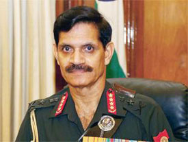 Indian Army Chief warns Pakistan