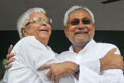 Nitish's good work winner, Lalu success on alliance steam