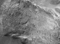 NASA captures boulders on martian landslide