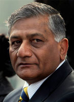 Gen. V.K. Singh should quit if disgusted: Congress