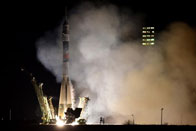 Russian spacecraft docks at International Space Station