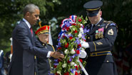 """Fallen US soldiers """"a debt we can never fully repay"""" says Obama"""