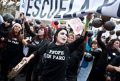 Teachers, students march in Chile against education bill