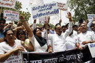 BJP protests power tariff hike in Delhi