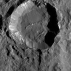 NASA probe reveals in finer detail crater on dwarf planet Ceres