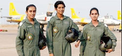 India s first three women fighter pilots commissioned