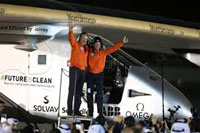 Solar plane completes round-the-world trip