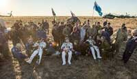 Expedition 48 astronauts lands safely on Earth