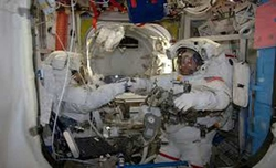 New astronauts complete a power upgrade spacewalk