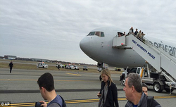 American flight lands after bomb scare