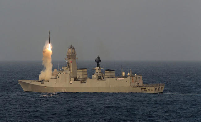 Maiden firing of SAM conducted from INS Vikramaditya