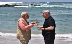Modi sees mobile desalination plant demo in Israel