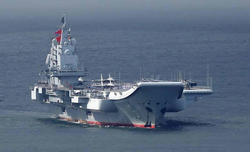 Chinese aircraft carrier arrives in Hong Kong