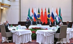China says there was 'no bilateral meeting' between Modi, Xi