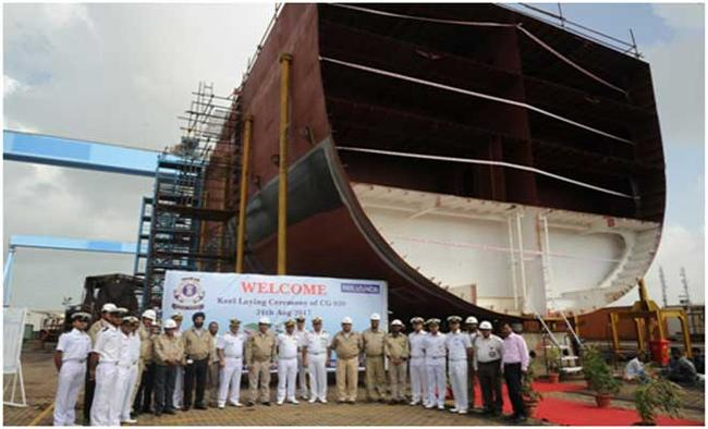 Reliance Defence Undertakes Keel Laying and Steel Cutting of ICG vessels