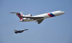 Unarmed Russian Air Force jet flies over Washington