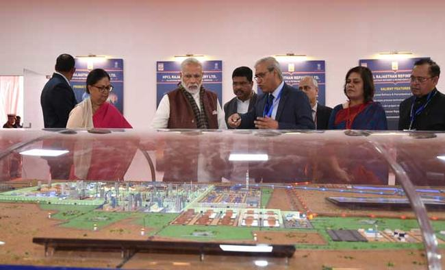 Modi lays foundation stone of Rs 43,000 cr Barmer refinery project