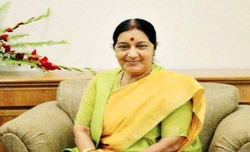 Sushma Swaraj arrives in Thailand