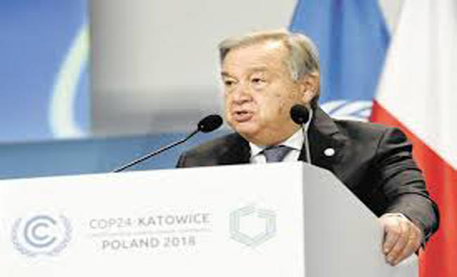 UN chief expected to attend climate talks