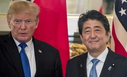 Trump, Abe discuss Korean Peninsula, US base relocation