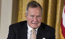 Ex-US President George H.W. Bush in intensive care