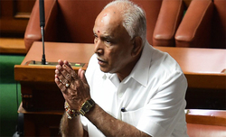 Yeddyurappa steps down as Karnataka CM before trust vote