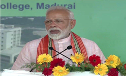 Modi lays foundation stone for AIIMS in Madurai
