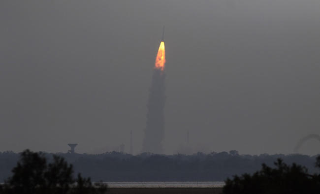 Countdown for the launch of India's Cartosat-3 satellite in progress