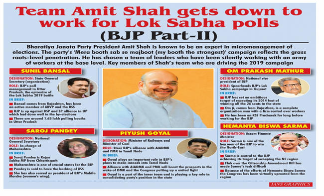 Team Amit Shah gets down to work for Lok Sabha polls
