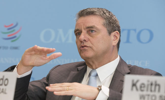 WTO chief stresses urgency of easing trade tensions