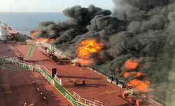 2 oil tankers hit in Gulf of Oman, all crew evacuated