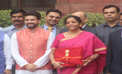 Sitharaman dumps Budget briefcase for 'bahi khaata'
