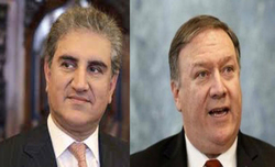 Pompeo meets Qureshi, lauds Pak's efforts for Afghan peace