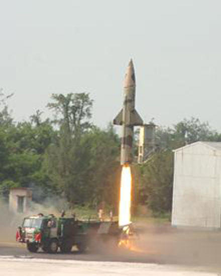 India conducts another night trial of Prithvi-II missile