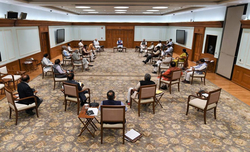 PM follows social distancing norms during cabinet meet