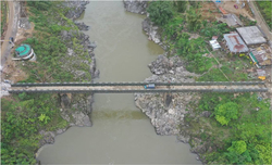 Construction of  430 feet Bridge  in COVID-19 times by BRO