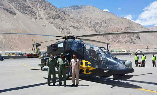 Two light combat choppers made by HAL deployed in Ladakh