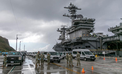'Ineffective social distancing led to Covid outbreak on US aircraft carrier'