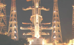 Indian rocket with Geo-Imaging Satellite lifts off