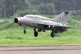 MiG 21 crashes, pilot ejects safely