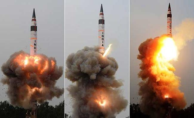 India test-fires n-capable Agni-V with a range to reach China