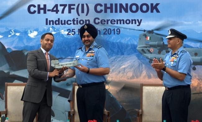 4 multi-mission Chinook helicopters inducted