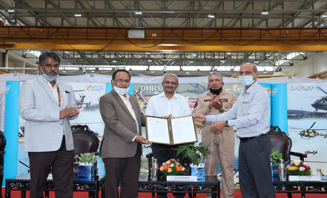 300th ALH (Dhruv) Rolls-out from HAL Hangar